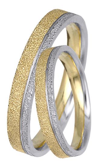 Δίχρωμες Ματ Βέρες 14Κ BR0407 Χρυσός 14 Καράτια