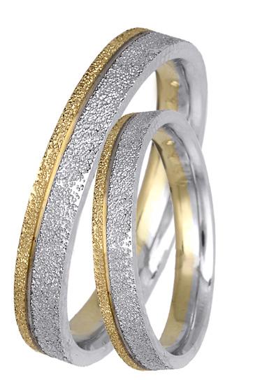 Δίχρωμες βέρες ματ Κ14 BR0409 Χρυσός 14 Καράτια