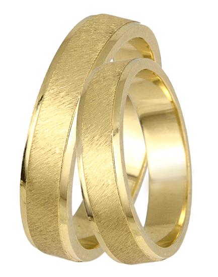 Ζαγρέ Χρυσές Ματ Βέρες Κ14 BR0410 Χρυσός 14 Καράτια
