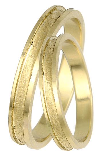 Χρυσές βέρες Κ14 με ζαγρέ ματ σχέδιο BR0412 Χρυσός 14 Καράτια