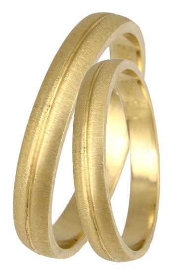 Χρυσές βέρες ματ Κ14 BR0416 Χρυσός 14 Καράτια
