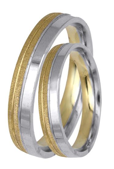 Δίχρωμες Βέρες Κ14 BR0419 BR0419 Χρυσός 14 Καράτια