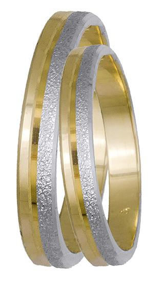 Δίχρωμες βέρες χειροποίητες BR0439D BR0439D Χρυσός 14 Καράτια