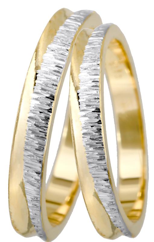 Πρωτότυπες βέρες γάμου Κ14 BR0443D BR0443D Χρυσός 14 Καράτια