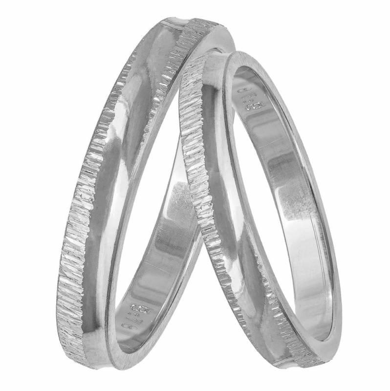 Βέρα γάμου λευκόχρυση BR0443L BR0443L Χρυσός 14 Καράτια