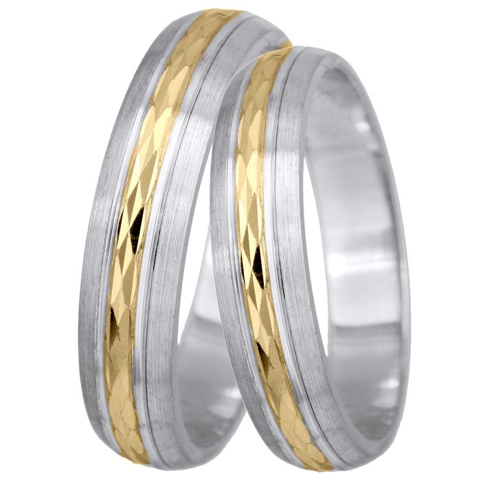 Βέρα δίχρωμα 14Κ BRS0195 BRS0195 Χρυσός 14 Καράτια