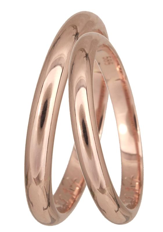 Ροζ gold βέρα γάμου Κ14 BRS02.5R BRS02.5R Χρυσός 14 Καράτια