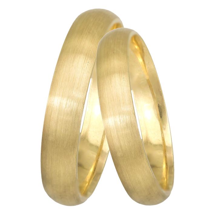 Χρυσή βέρα Κ14 BRS0DP4 Χρυσός 14 Καράτια