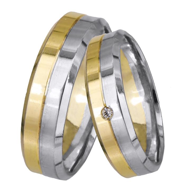 Βέρες γάμου 14Κ BRS062 BRS062DP Χρυσός 14 Καράτια