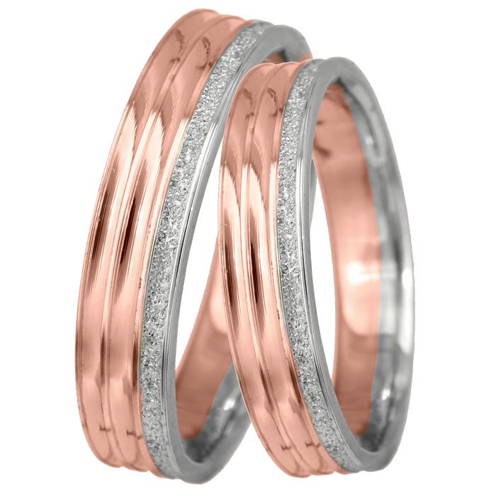 Βέρες γάμου σε ροζ χρυσό 14Κ BRS0643D BRS0643D Χρυσός 14 Καράτια