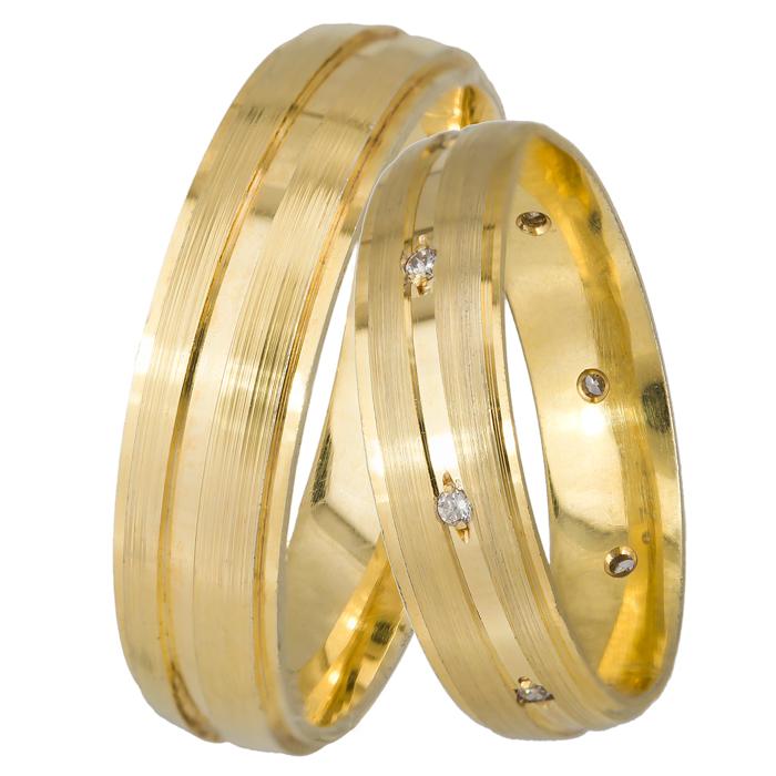 Χρυσές βέρες γάμου 9Κ 9BRS0721 9BRS0721 Χρυσός 9 Καράτια