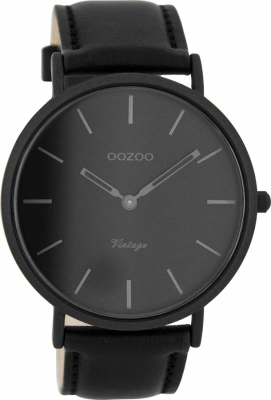 Ρολόι αντρικό OOZOO Timepieces Black Leather Strap C7733 C7733