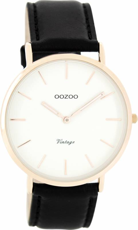 Αντρικό ρολόι OOZOO Τimepieces Vintage Leather black Strap C7761 C7761