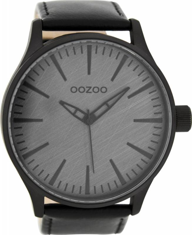 Αντρικό ρολόι OOZOO XL Timepieces Black Leather Strap C7864 C7864