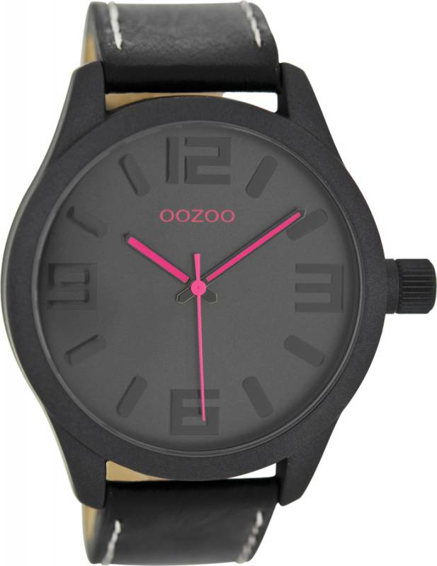 Ρολόι χειρός OOZOO Black Leather Strap C7889 C7889