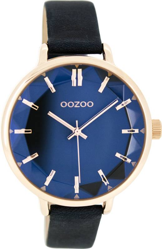 Ρολόι χειρός OOZOO Timepieces black Leather strap C7918 C7918