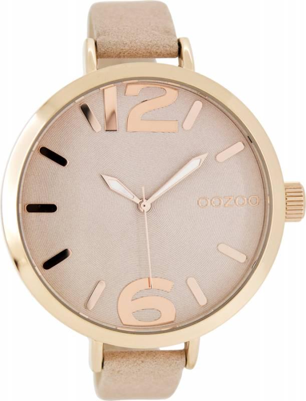 Γυναικείο ρολόι OOZOO Timepieces Pink Leather Strap C7961