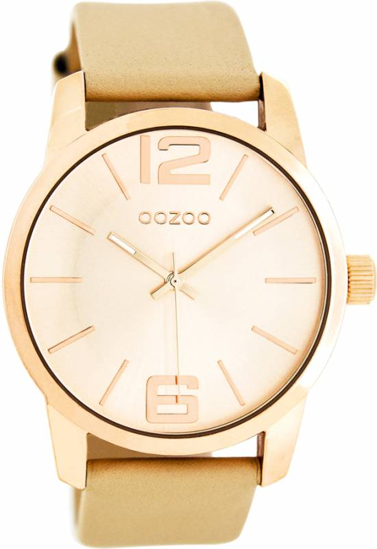 Ρολόι χειρός OOZOO Timepieces rosegold leather strap C8040 C8040