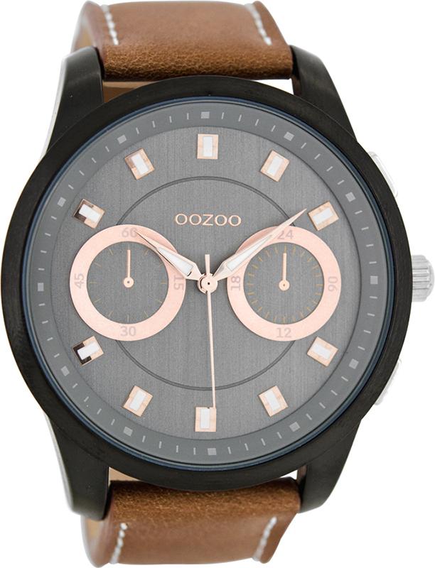 Αντρικό ρολόι XL Brown Leather Strap C8208 C8208
