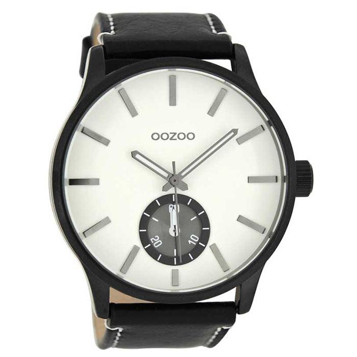 Ρολόι OOZOO Black Leather Strap C8213 C8213