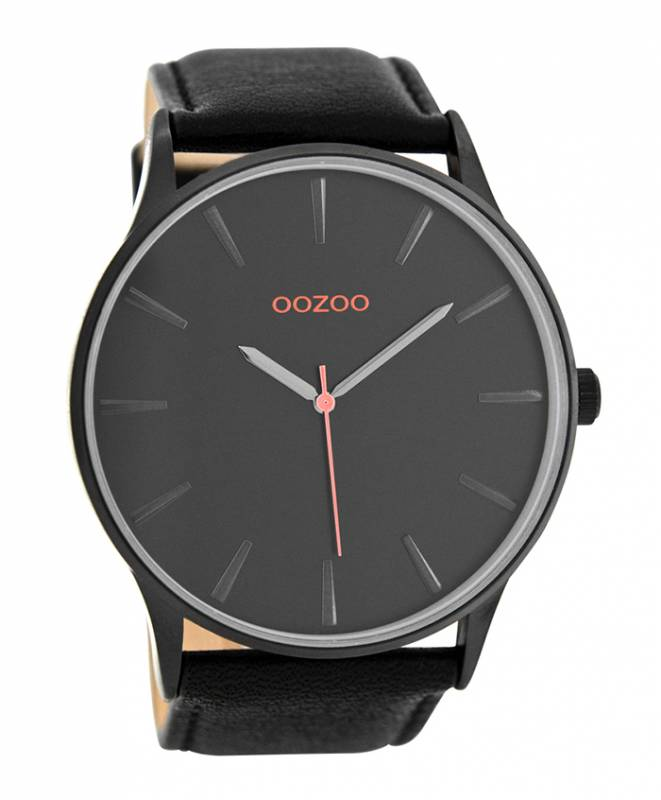 Ρολόι χειρός OOZOO Black Leather Strap C8233 C8233