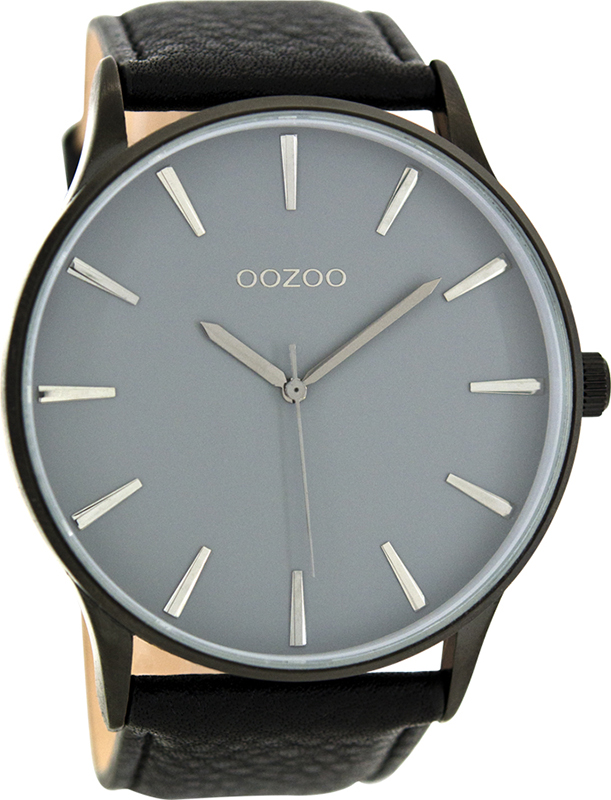 Ρολόι αντρικό OOZOO XL Τimepieces Black Leather Strap C8234 C8234