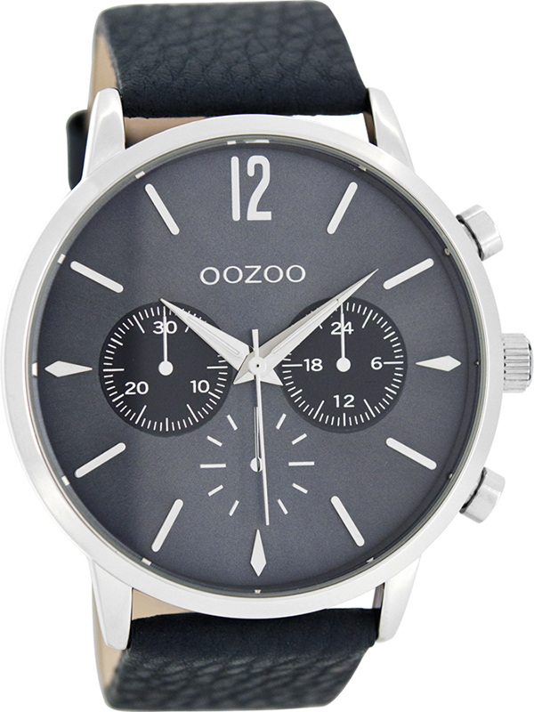 Ρολόι χειρός OOZOO Τimepieces blue leather strap C8242 C8242