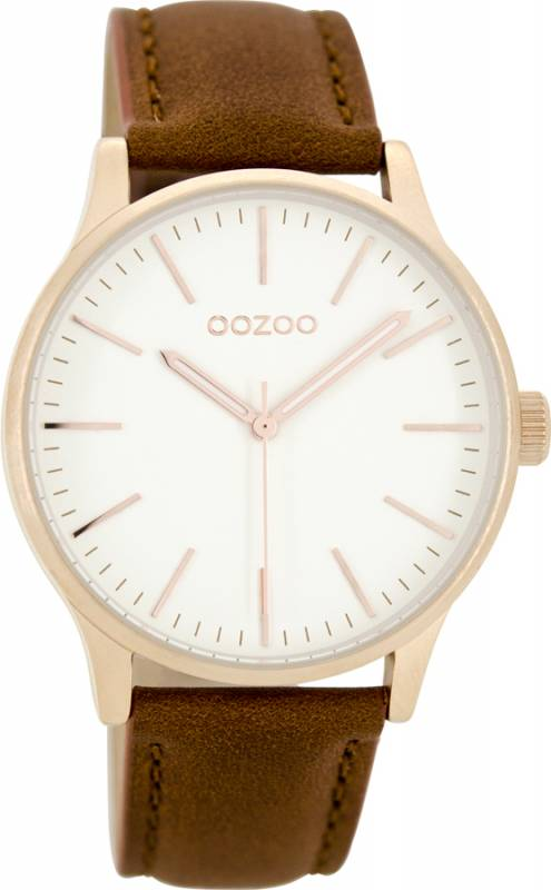 Ρολόι OOZOO Brown leather Strap C8543 C8543
