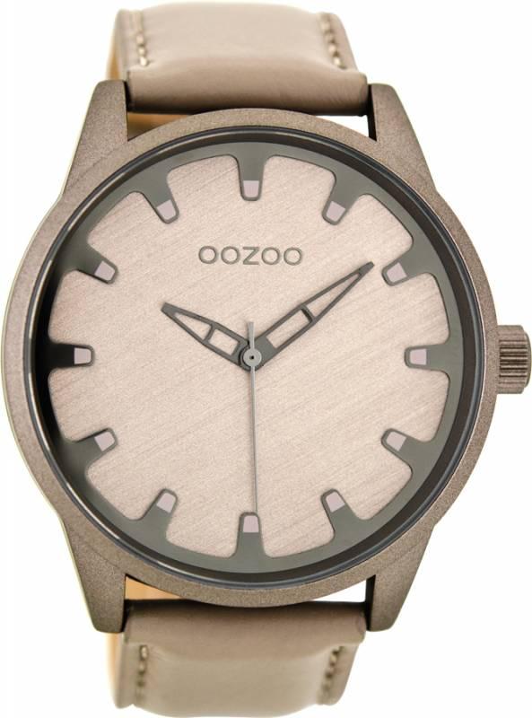 Αντρικό ρολόι OOZOO Τimepieces Beige Leather Strap C8546 C8546