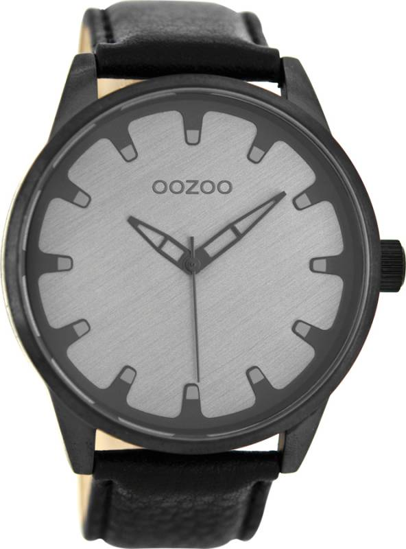 Ρολόι OOZOO Τimepieces Black Leather Strap C8549 C8549