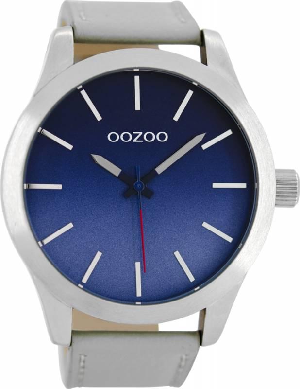 Αντρικό ρολόι OOZOO Grey Leather strap C8555 C8555
