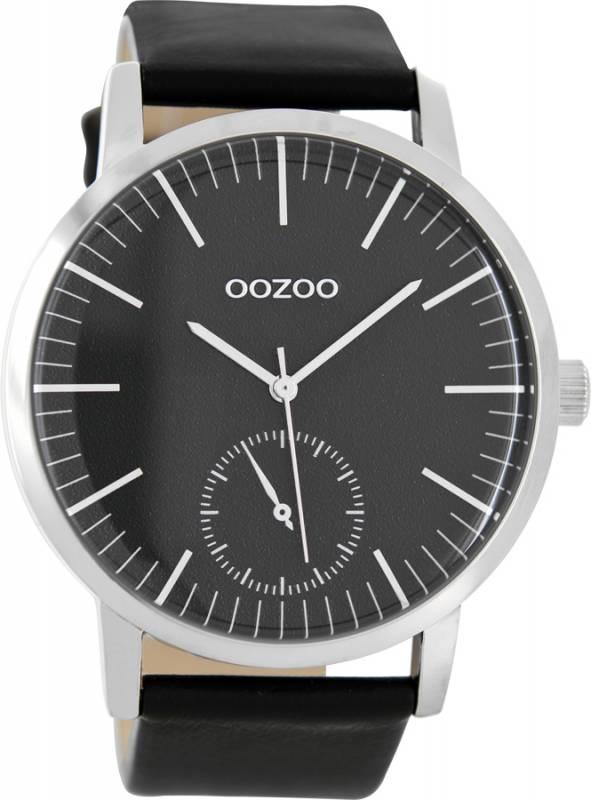 Αντρικό ρολόι OOZOO Τimepieces blue leather strap C8588 C8588