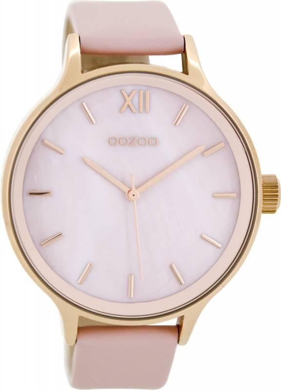Γυναικείο ρολόι OOZOO Pink Leather strap C8602 C8602