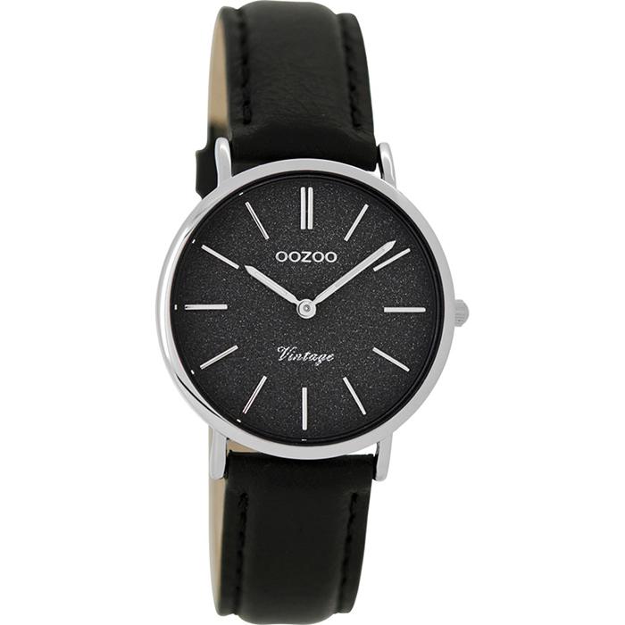 Ρολόι γυναικείο OOZOO Black leather strap C8836 C8836
