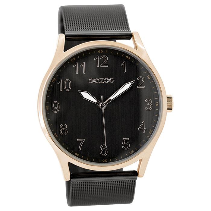 Γυναικείο ρολόι OOZOO Black metallic bracelet C9518 C9518