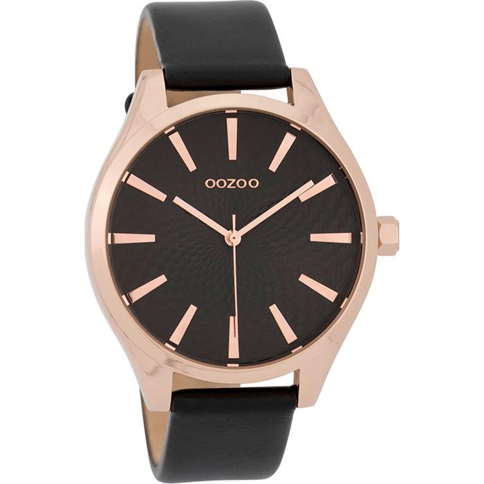 Ρολόι OOZOO Black Leather strap C9689 C9689