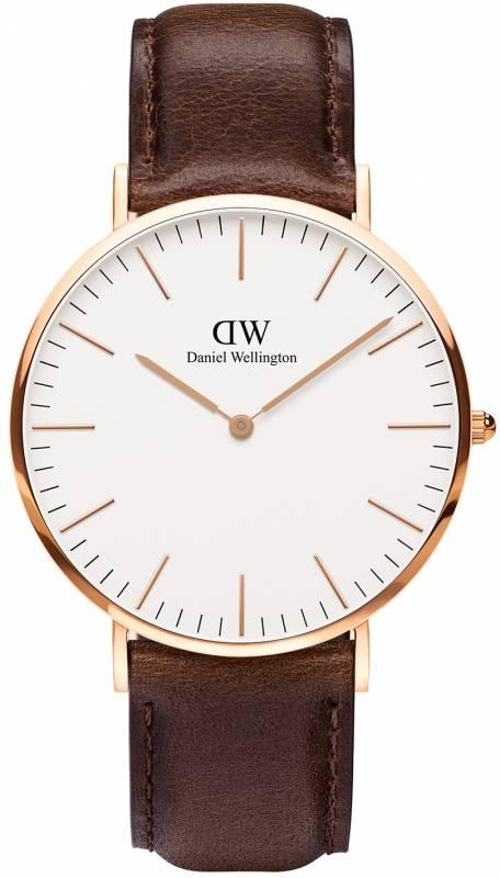 Ρολόι Daniel Wellington Bristol Brown Leather Strap 40,00mm 0109DW 0109DW Ατσάλι