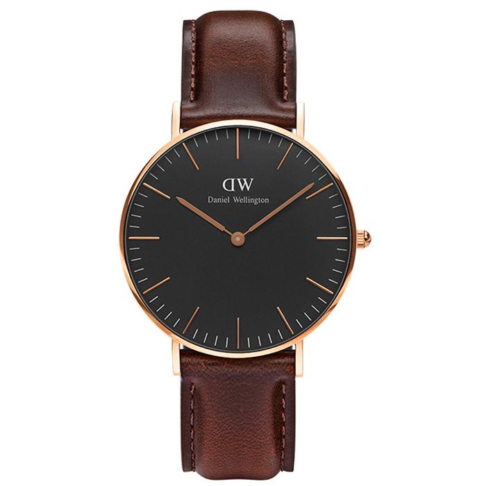 Daniel Wellington Classic Bristol Black DW00100137 DW00100137 Ατσάλι