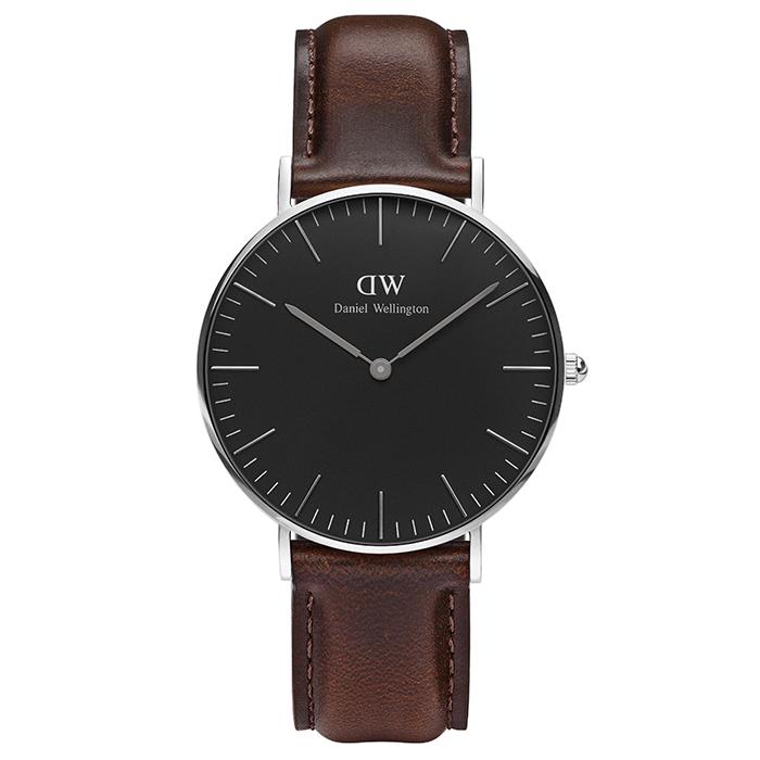 Daniel Wellington Silver Classic Bristol Black edition DW00100143 DW00100143 Ατσάλι