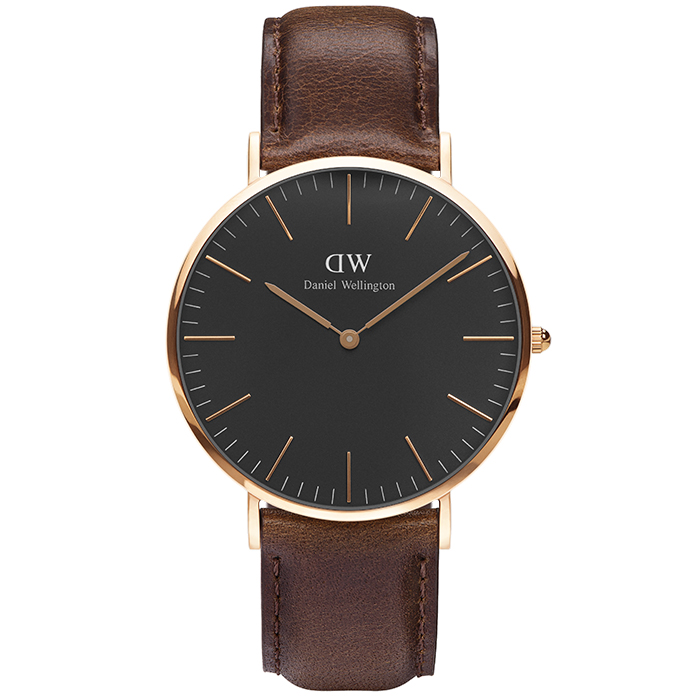 Ρολόι Daniel Wellington Classic Bristol Black 40,00mm DW00100125 DW00100125 Ατσάλι