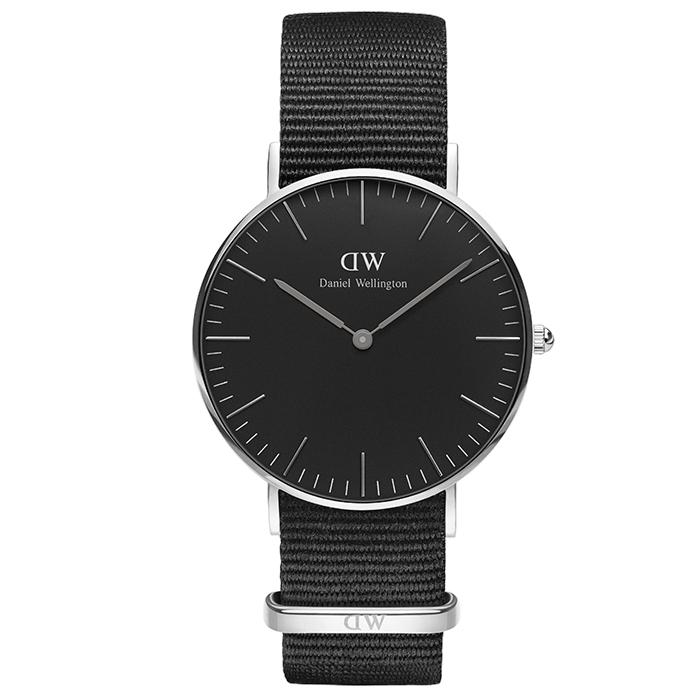 Ρολόι Daniel Wellington Black edition Classic Cornwall Silver DW00100151 DW00100151 Ατσάλι