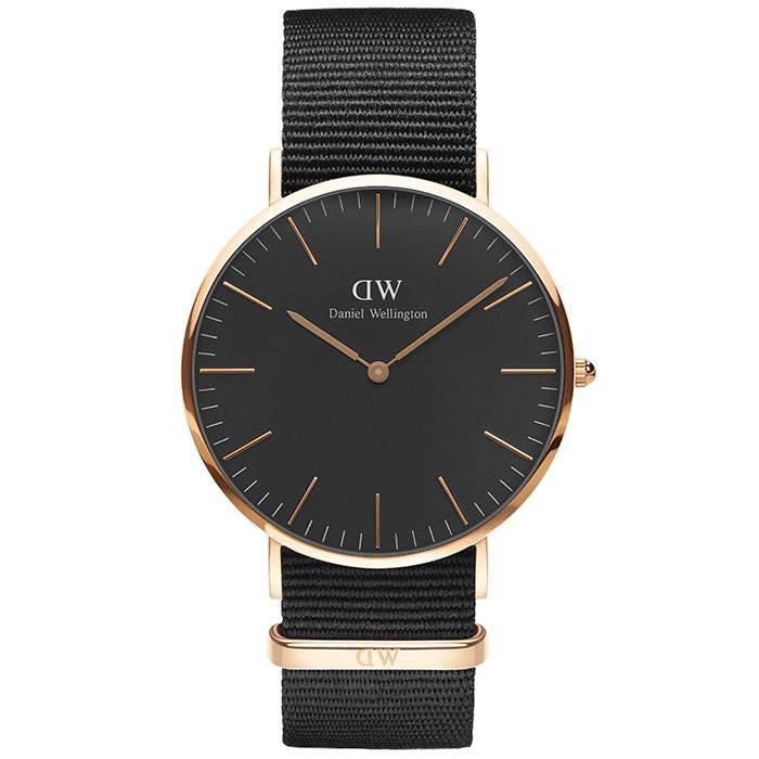 Daniel Wellington ρολόι Black edition Classic Cornwall 40,00mm DW00100148 DW00100148 Ατσάλι