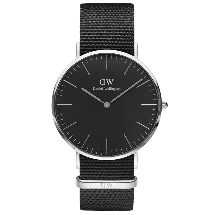 Ρολόι Daniel Wellington Silver Black Classic Cornwall 40,00mm DW00100149 DW00100149 Ατσάλι