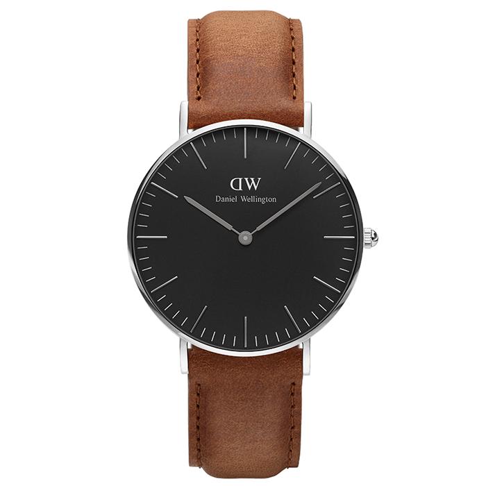 Daniel Wellington Silver Black Edition Classic Durham 36,00mm DW00100144 DW00100144 Ατσάλι