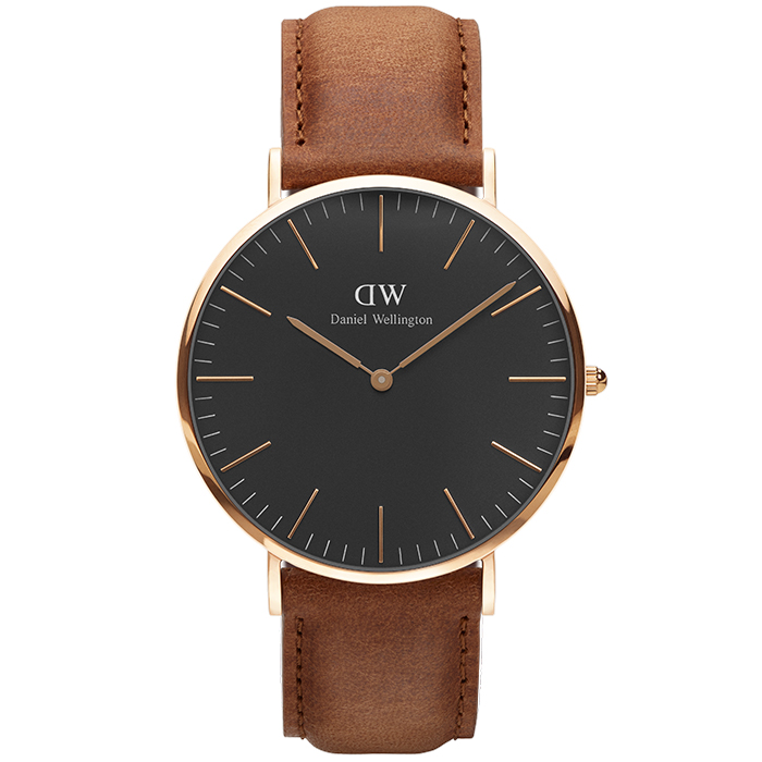 Daniel Wellington Rose gold Black Edition Classic Durham 40,00mm DW00100126 DW00100126 Ατσάλι