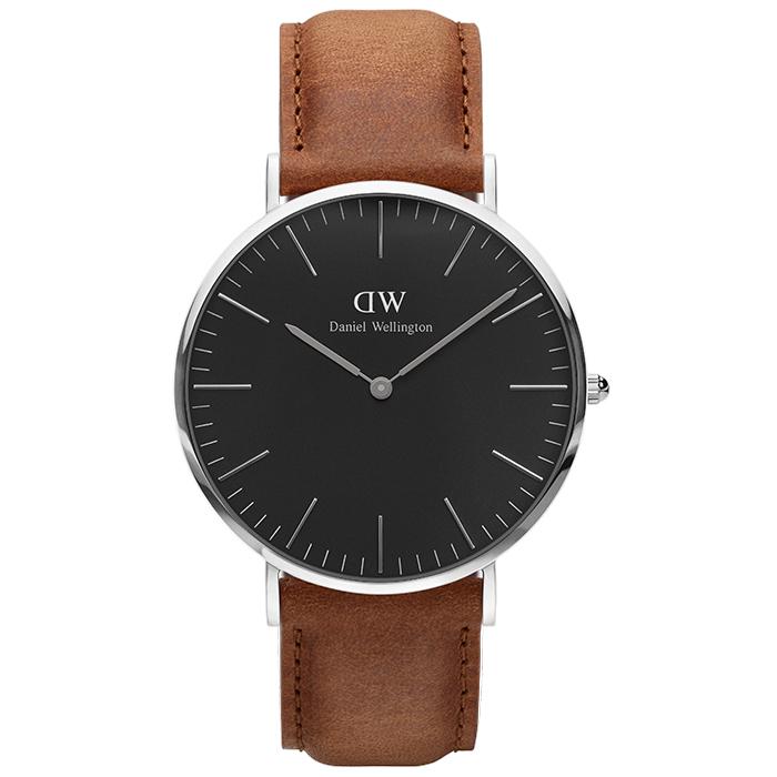 Ρολόι Daniel Wellington Silver Black Edition Classic Durham 40,00mm DW00100132 DW00100132 Ατσάλι