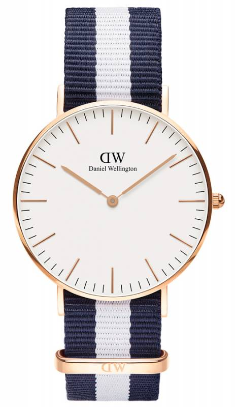 Ρολόι Daniel Wellington Classic Glasgow Rose gold 36,00mm 0503DW 0503DW Ατσάλι