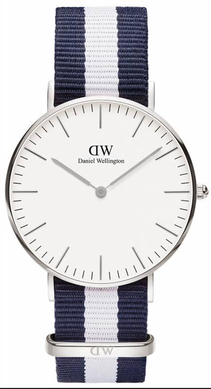Daniel Wellington ρολόι Classic Glasgow Silver Lady 36,00mm 0602DW 0602DW Ατσάλι