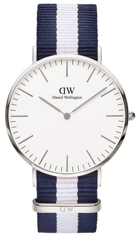 Daniel Wellington Classic Glasgow Silver 40,00mm ρολόι 0204DW 0204DW Ατσάλι
