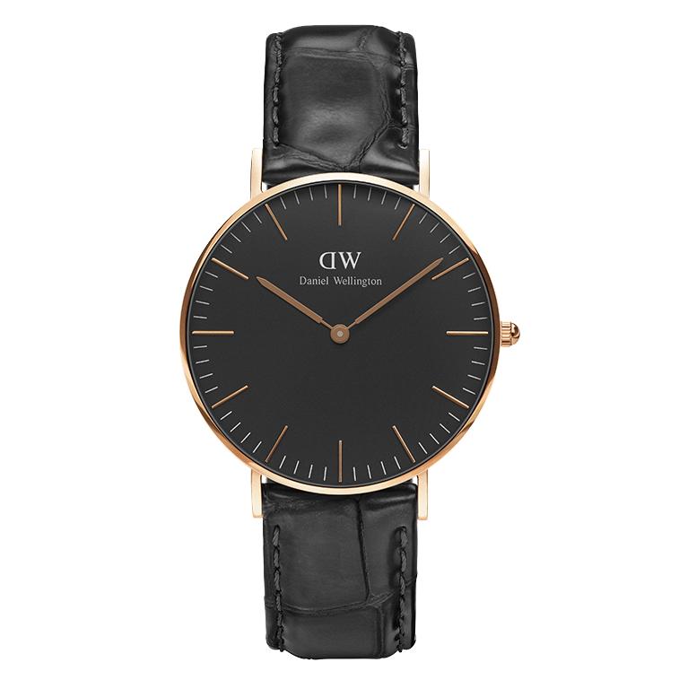 Ρολόι Daniel Wellington Black Edition Classic Reading 36,00mm DW00100141 DW00100 ρολόγια daniel wellington